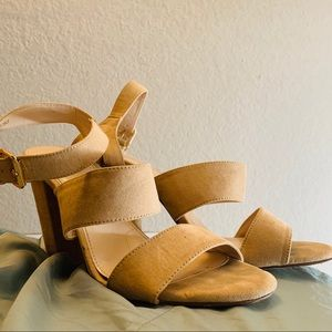 Tan Sandal High Heels (3in) Forever 21